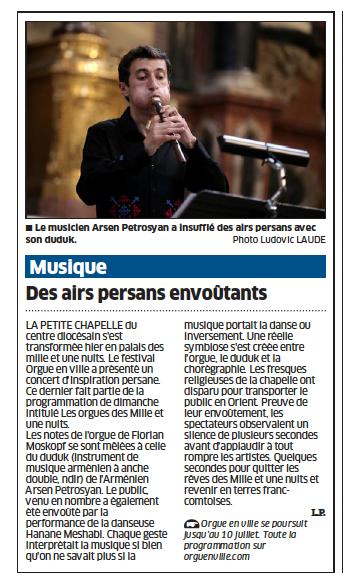 article Est Républicain 4 juilet 2012